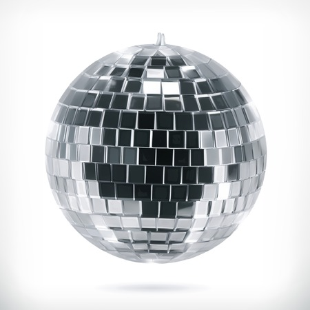 glitter ball: Disco ball, vector icon