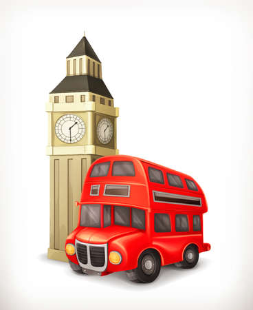 londres autobus: London Bus ilustraci�n Vectores