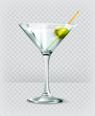 cocktail drinks: Martini cocktail icon Illustration
