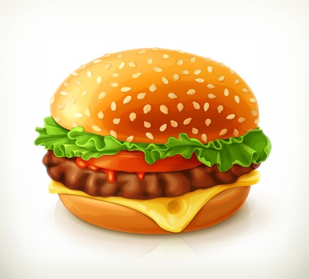 eat: Hamburger, vector icon