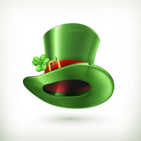 leprechaun background: Leprechaun Hat, vector icon
