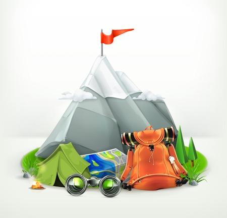 backpacking: Backpacking vector illustration