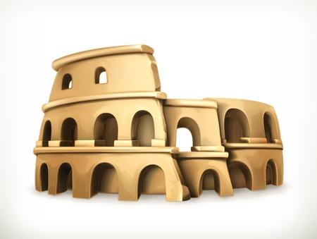 colosseo: Colosseum, vector icon Illustration