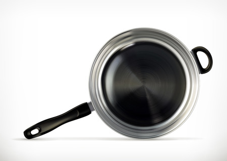 browning: Frying pan, vector icon
