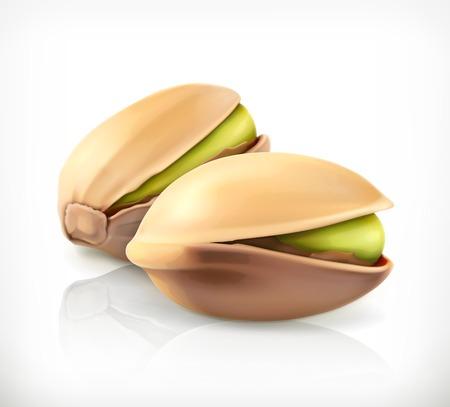 nuts: Pistachio nuts, vector icon