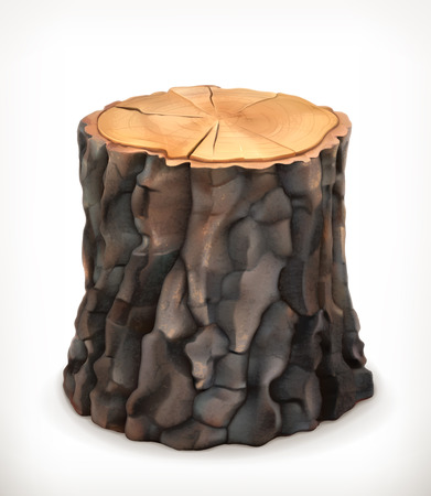 Tocón de árbol, vector icon Foto de archivo - 38119992