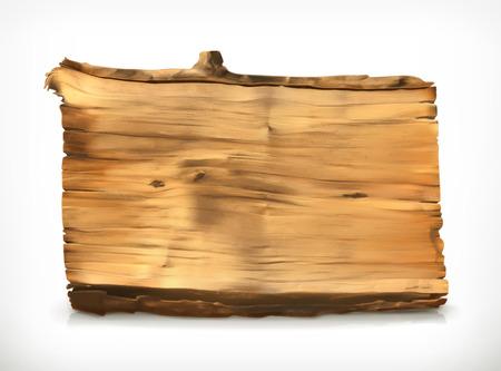 tree texture: Wooden banner, vector