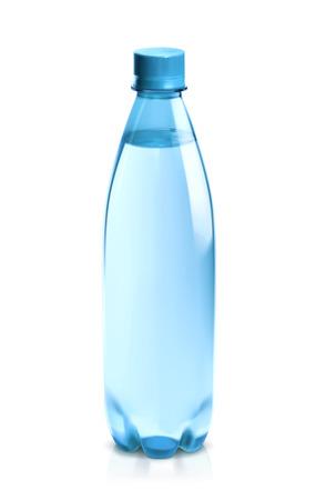 botella: Botella de agua, icono vector