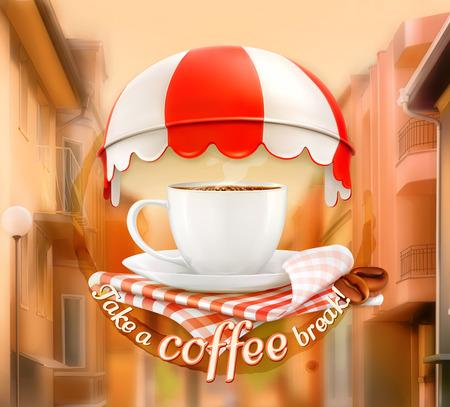 petit dejeuner: Tasse de caf�