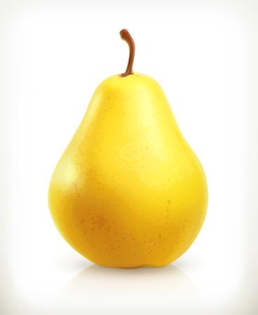 pera: Pera, fruta de verano, vector icon