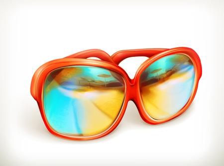 sunglasses: Sunglasses, vector icon Illustration