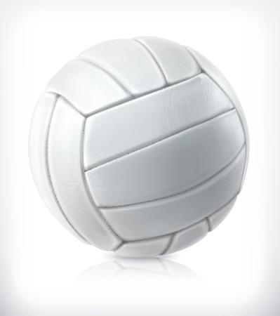 pelota de voleibol: Voleibol, icono del vector Vectores