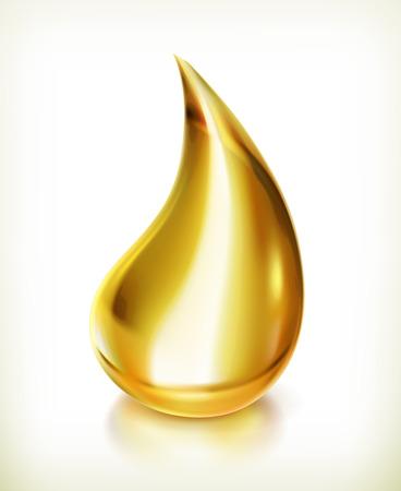 Oil drop, vector icon Stock Illustratie