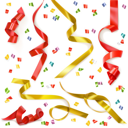 Festive ribbon, set of vector elements isolated Фото со стока - 41950339