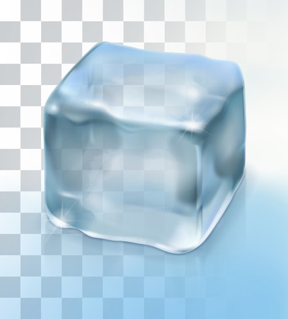 Ice cube cocktail, vector object with transparency Illustration
