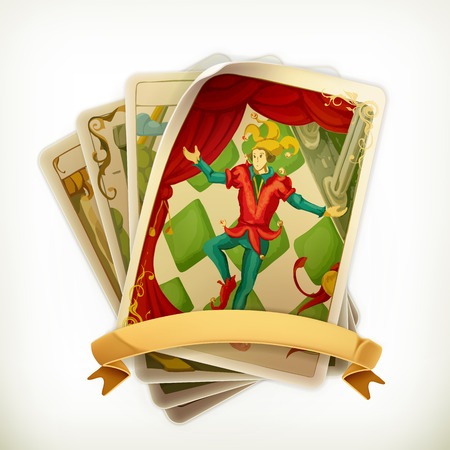 Tarot, vintage vector icon Illustration