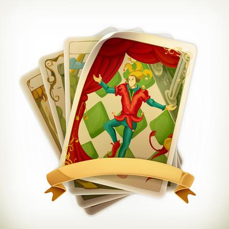 tarot: Tarot, vintage vector icon Illustration