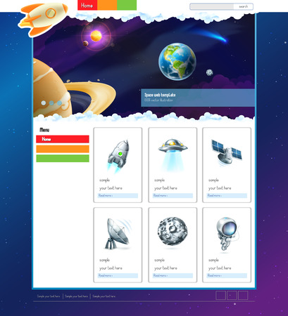 webpage: Space vector website template