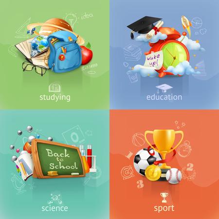 school icon: School concepts, vector set