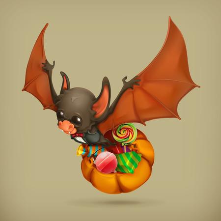 fruit bat: Funny bat, vector icon