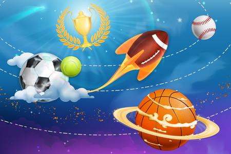 universum: Sport Universum, Vektor-Hintergrund Illustration