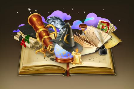 libros abiertos: Escuela y el libro, vector de fondo