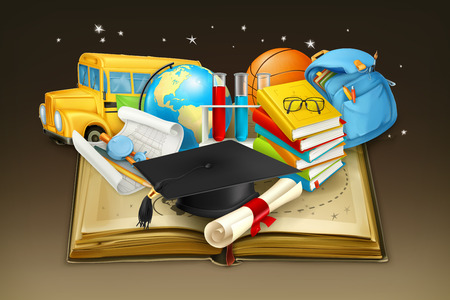 Education, vector background Illustration