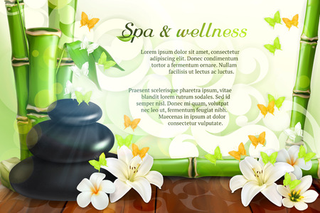wellbeing: Spa and wellness, vector background