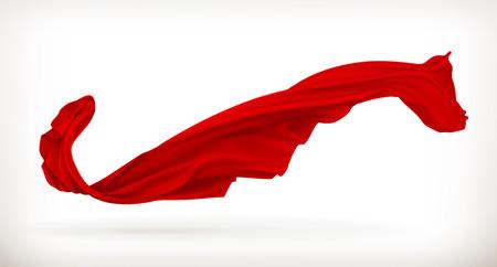 Rood doek, vector illustratie, geïsoleerd op een witte achtergrond