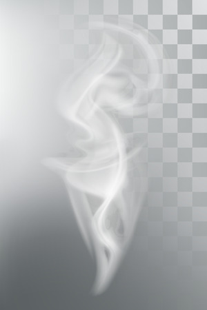 Smoke aroma steam, vector illustration with transparency