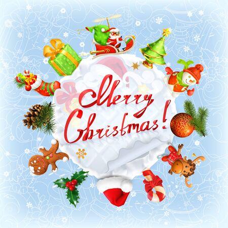 holiday background: Christmas vector holiday background Illustration