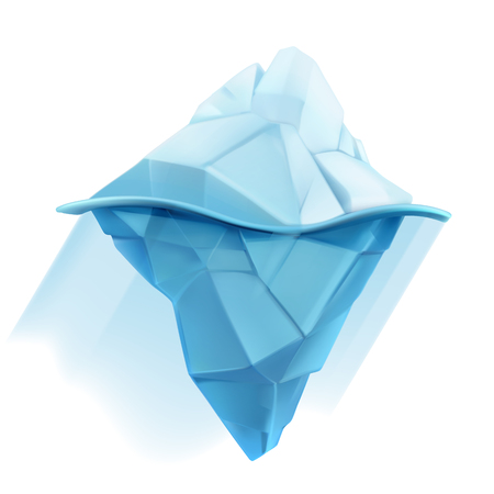 low poly: Iceberg, low poly style vector icon
