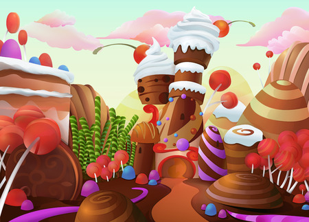 birthday cartoon: Sweet vector background