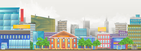 city background: City, vector colorful illustration background