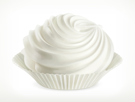 Meringue, vector icon, isolated on white background