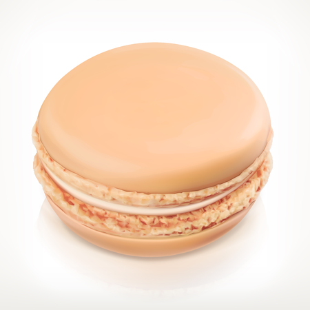 meringue: Macaron, vector icon, isolated on white background