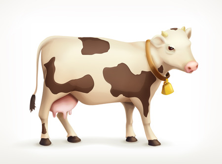 Cow, icon, isolated on white background