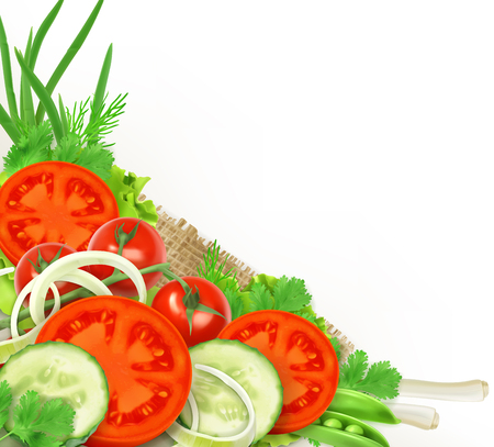 Group of fresh vegetables, design element