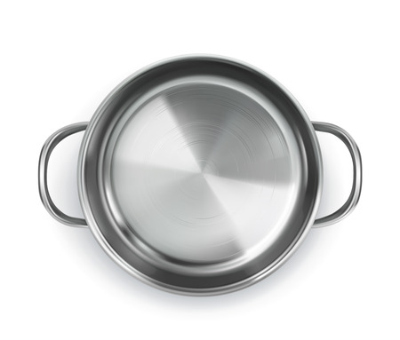 Pan, top view object, isolated on white background Illustration