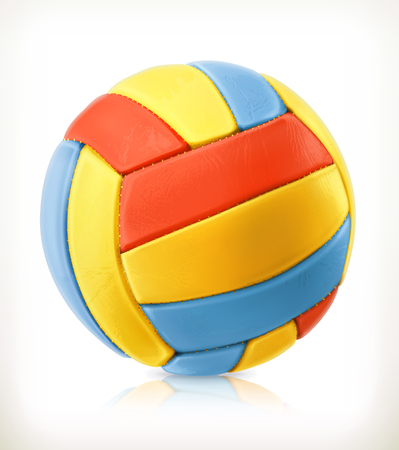 pelota de voley: voleibol de playa, icono de vector, aislado en fondo blanco Vectores