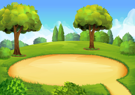 playground: Park playground, vector illustration background