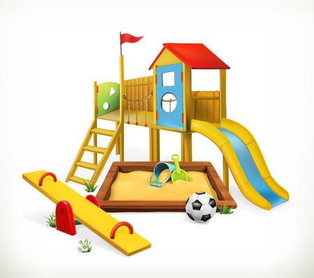 Playground, vector illustration on white background Vettoriali