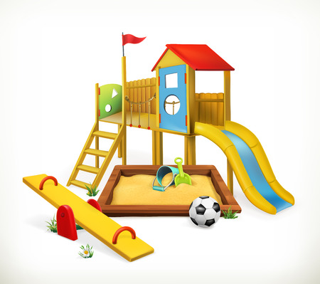 Playground, vector illustration on white background Ilustracja