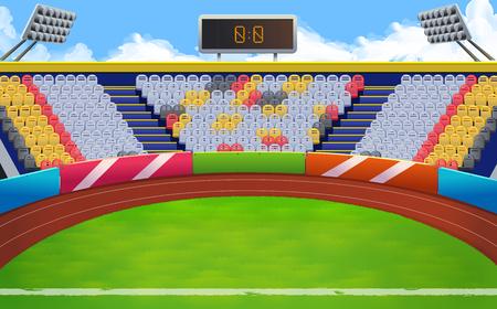 Estadio, estadio deportivo de vectores de fondo