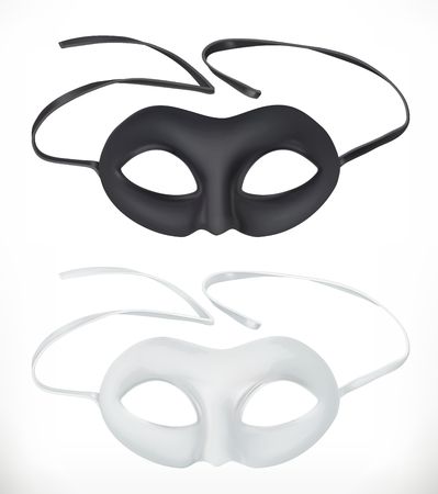 Theatrical masks, vector icon  on white background Illustration