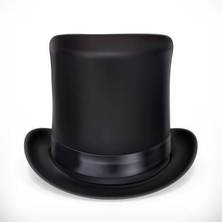 Top hat, vector icon  on white background