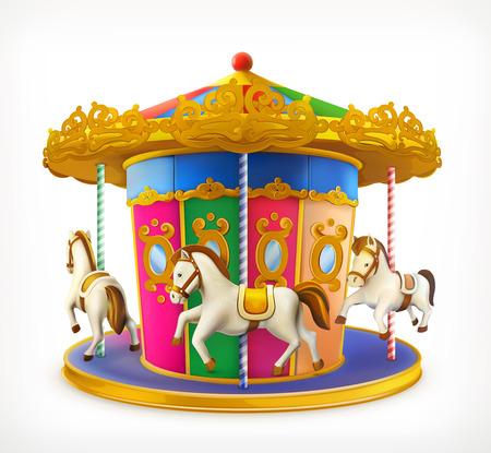 carousel horse: Carousel, vector icon