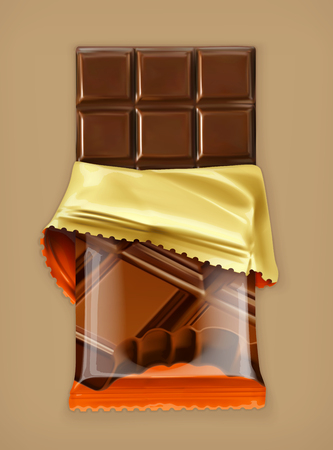 Chocolate bar, vector object