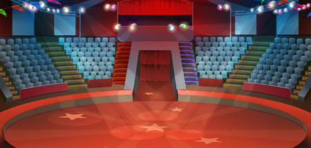 inside of: Circus arena, vector background
