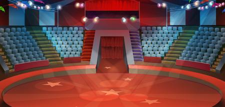 Circus arena, vector background 版權商用圖片 - 58605959